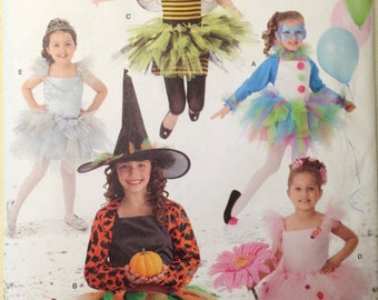Simplicity 2071 - Girl's Tutu Costume Collection - Size 7 - 14