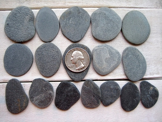 16pcs flat beach stones flat stones stones for by for Flat stones for crafts