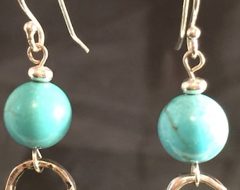 Turquoise with Sterling Silver Circles