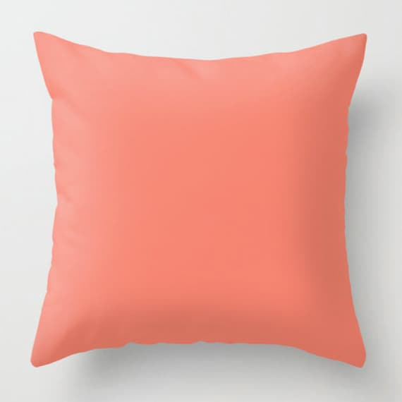 Coral Throw Pillow Pink Decorative Sofa Decor