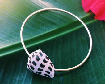 ONE LEFT! Hebrew Cone Sterling Silver Bangle