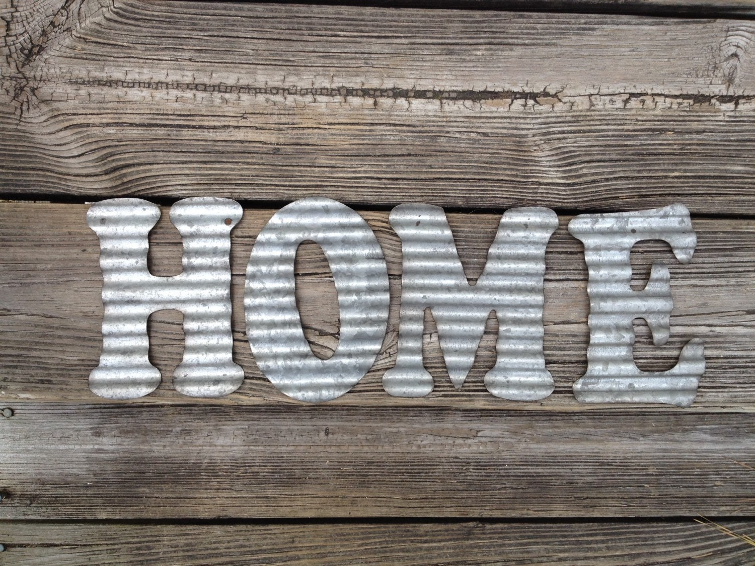 Galvanized metal letters home industrial wall decor kitchen Metal home decor