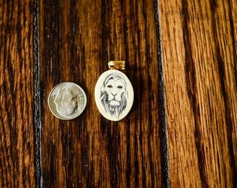 Free U.S. Shipping: Hear me Roar! Vintage Lion Pendant