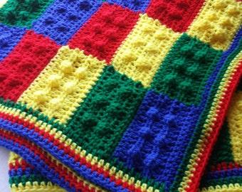 Lego Baby Blanket Crochet Lego Afghan Lego Throw Made to order