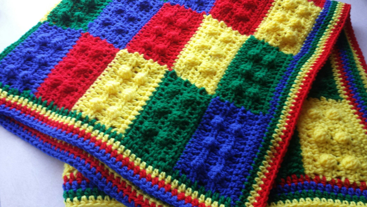 Lego Baby Blanket Crochet Lego Afghan Lego Throw Made to order
