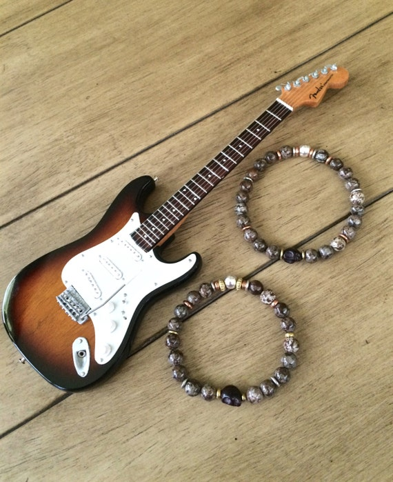 rock n roll rebel mens gemstone bracelet mens by asapphirespirit. Black Bedroom Furniture Sets. Home Design Ideas