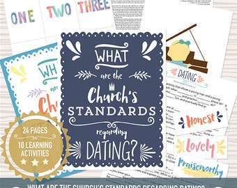 August {Come Follow Me} What are the Church's standards regarding Dating?  Teaching Package