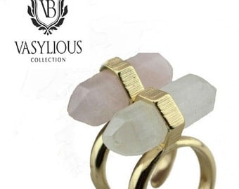 Vasylious 18K Crystal Rings