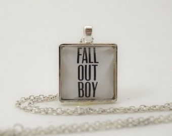 Fall Out Boy Pendant Necklace or Keychain