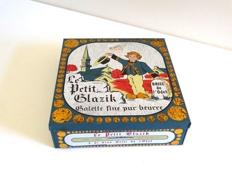 French Vintage Breton Biscuit Box