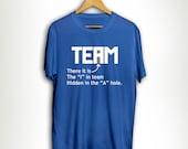 Funny I In Team T-Shirt Tshirt Tee Shirt Birthday Gift Run Team Work USA Running Sports Gym Summer Spring Tank Humour Fitness Crossfit MB166