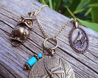 Nature Inspired Antique Style Necklace
