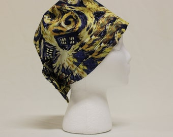 Exploding TARDIS Doctor Who Van Gogh Surgical Dentist Scrub Cap Chemo Hat