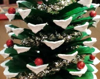 HandPainted Pine Cone Christmas Trees