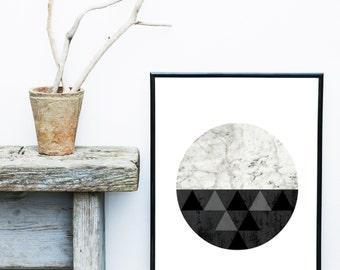Geometric Abstract, Printable Art, Geometric Art, Geometric Wall Art, Textured, Wall Decor, Abstract Art Print, Instant Download