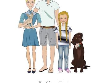 Cartoon Family Portrait Gift