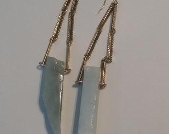 Earrings - Ice blue stone