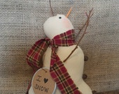 Primitive Catching Snowflakes Snowman- Winter/ Christmas/ Holiday Decor