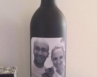 Personalized Picture Wine Bottles