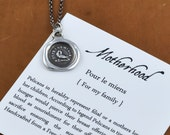 Motherhood Wax Seal Necklace - Pelican in her Piety Wax Seal Charm - 226