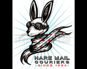 HARE MAIL // small Fine Art Print