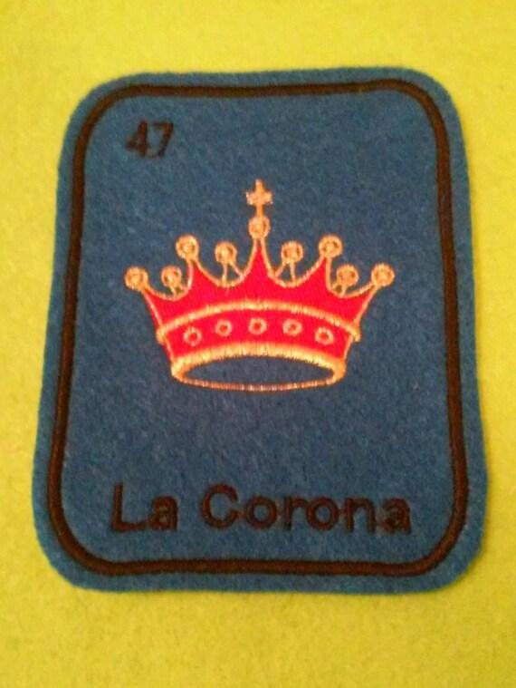 La Corona  Loteria Patch  Iron On crown