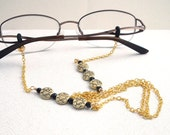 Gold Bead Chain Eyeglass Leash