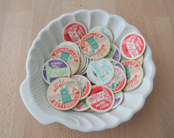 Assorted Old Vintage Milk Bottle Caps Set of 10
