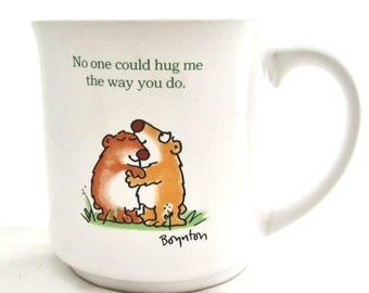 Sandra Boynton HUGS Coffee Mug Cup Vintage Japan