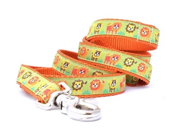 Jungle Dog Leash - Lion Dog Leash - Lion Leash - 6 FT.