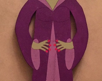 "DEBI'S DOINGS - PATTERN-Halloween Wood Craft Pattern ""Bridella""  (48"" Tall)"