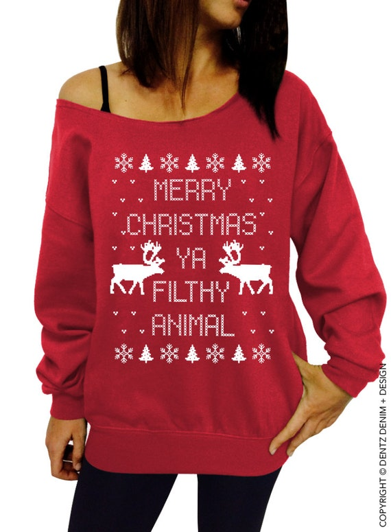 Merry christmas you filthy animal sweater