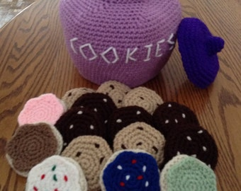 Crochet Cookie Jar, Made to Order