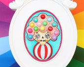 Original Painted 3D Art work Painting by Caramelaw with Frame : Roly-Poly Pwinster, Gummy Head