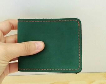 Mens wallet, leather wallet, green wallet,men wallet, green leather,card holder,man wallet, men leather wallet, pockets wallet, mens leather