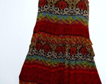 Boho  Maxi Dress/ Tribal print Long skirt BACK2SCHOOL SALE 30% Off