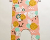 Romper Blush Floral - One Piece Outfit - Floral Apparel - Floral Infant Outfit - Floral Toddler Apparel -Pink Baby Outfit-Spring Baby Outfit