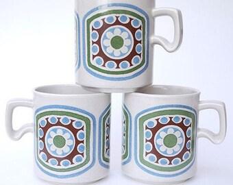 "Cool 60's Graphic Mugs -- Arthur Wood ""Kandahar""-- Mid Century Modern"
