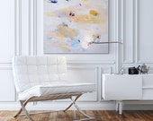 """Giclee print, Abstract painting, Large Wall Art up to 40x40"""", Large Abstract art White, cream"""