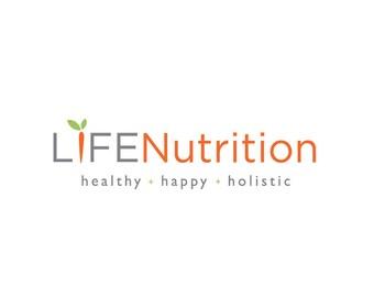 Nutrition Logo - Wellness Logo - Holistic Logo - Custom Business Logo - Logo Design - Graphic Design - studio160design