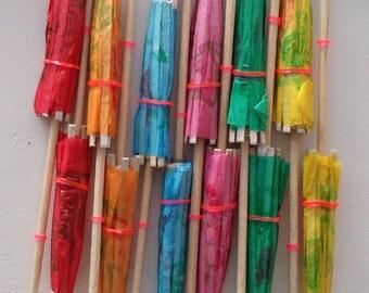 SALE ! Tropical Drink Umbrella. 12 pieces