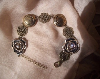 Bracelet - With Vintage Buttons - Earrings