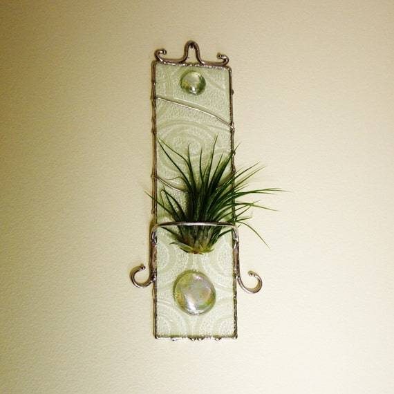 Air Plant Base Camp Unique Art Glass Wall Hanging Modern Style