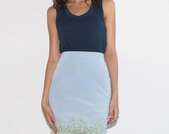 Clearance SALE was 100 now 40 chic vintage 80s/90s CHRISTIAN LACROIX Bazaar silk blend print pencil skirt