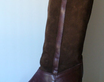 Vintage Made in Italy Suede Tall Boots Size 7.5US