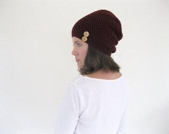 Winter Knit Hat | Slouchy Beanie | Spring Beanie | Oversized Hat | Womens Winter Hat | Crochet Hat | Ski Hat