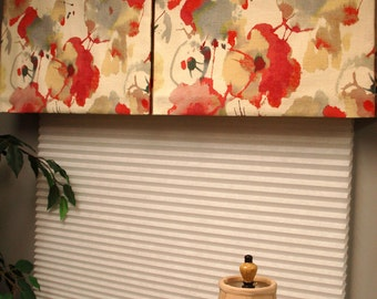 "Wide Width BOX PLEATED Hidden Rod Pocket valance, fits 81"" - 115""  window, constructed using your fabrics my LABOR and lining"