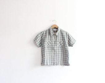 Grunge Plaid 90s Zipped Shirt