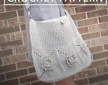 Crochet Purse Pattern, Shoulder Bag Crochet (The Wildflower Shoulder Bag Crochet Pattern by Little Monkeys Crochet) Wildflower Shoulder Bag