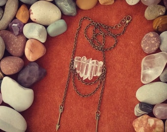 Kiss the Sky // Quartz Necklace // Arrow Necklace // Southwestern // Tribal Necklace // Crystal Necklace // Boho Necklace // Boho Chic